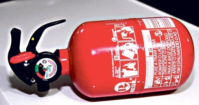 veículos que não precisa usar extintor de incêndio
