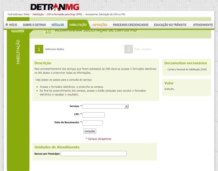 rastrear-habilitacao-detran-mg